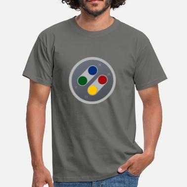 SNES Retro Gamepad Buttons - Männer T-Shirt