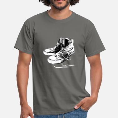 Mods Sneakers Black And White - Männer T-Shirt