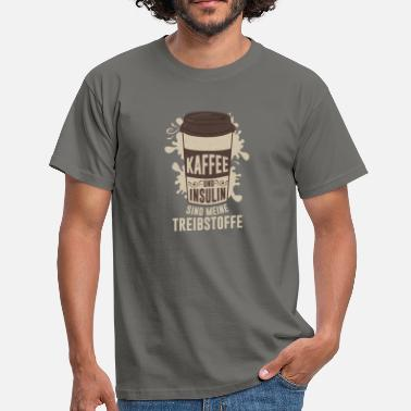 Insulin Pump Coffee and insulin are my fuels - Men's T-Shirt