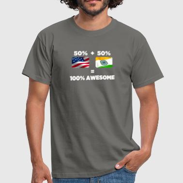 Ahmedabad Half Indian Half American Totally Awesome - Men's T-Shirt