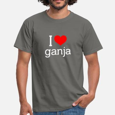 I-love-ganja I love ganja - Men's T-Shirt