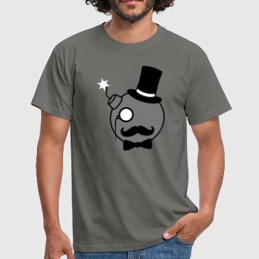 monsieur messieurs riches monocle cylindre angezuen - T-shirt Homme