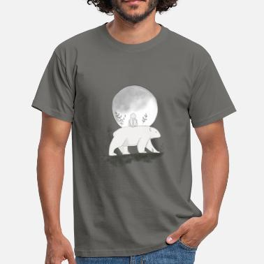 Bären Hase Walk in the Moonlight - Männer T-Shirt