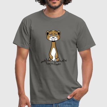 Meerkat Meerkat cute funny grass - Men's T-Shirt