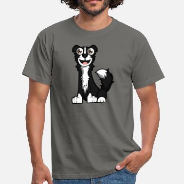 Borderlands Lachender Border Collie - Männer T-Shirt