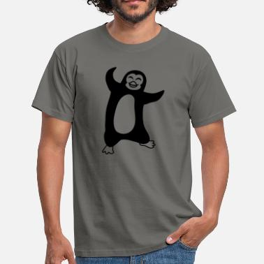 Flock dancing penguin happy froehlich bird jumping - Men's T-Shirt
