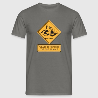 Don't feed the wild animals - T-shirt Homme
