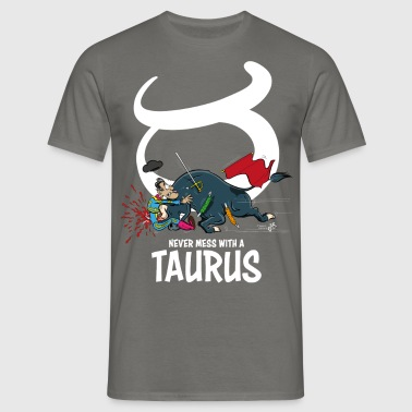 Sterrenbeeld Stier / Taurus wit - Mannen T-shirt