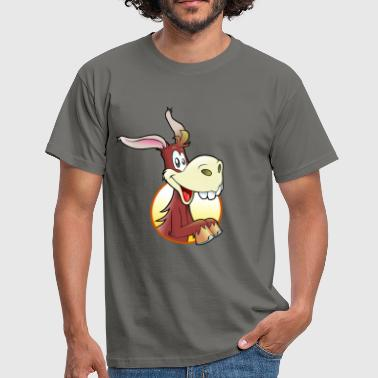 Cartoon Esel - Männer T-Shirt