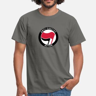 Antifa Anti-Fascist Action - Men's T-Shirt