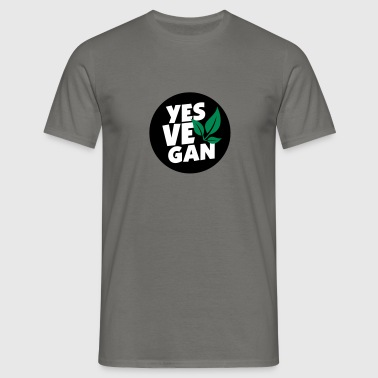 Yes Vegan / Yes ve gan (3c) - Männer T-Shirt