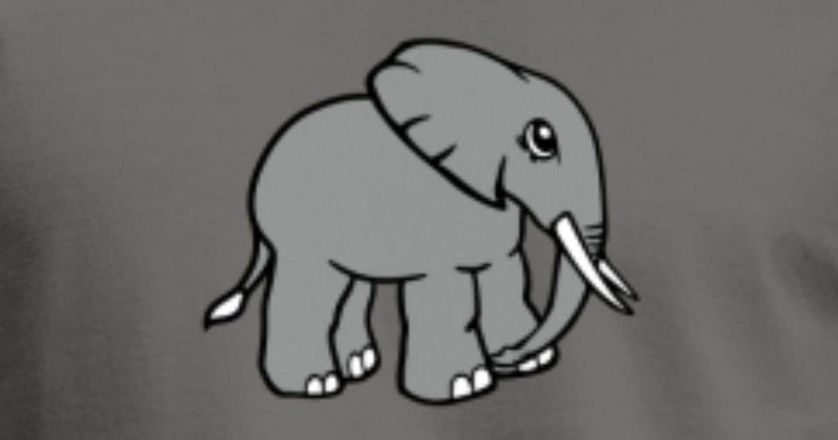 elefant kopf gesicht gemalt von Style-o-Mat-Shirts | Spreadshirt