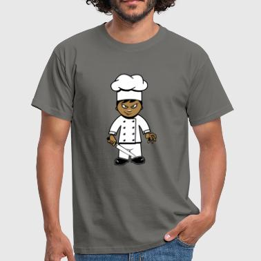 Cooking cook funny horror knife - Men's T-Shirt
