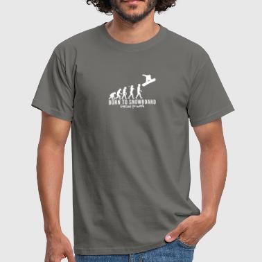Evolution-snowboard snowboarding evolution born to snowboard - Men's T-Shirt