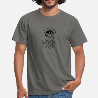 Old Sailor Sailor captain cap old sailor ship boat sea squid  - Men's T-Shirt