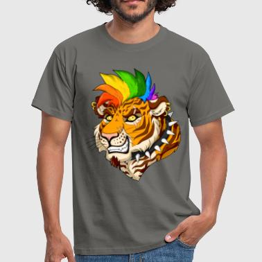 Punk Tiger - Men's T-Shirt