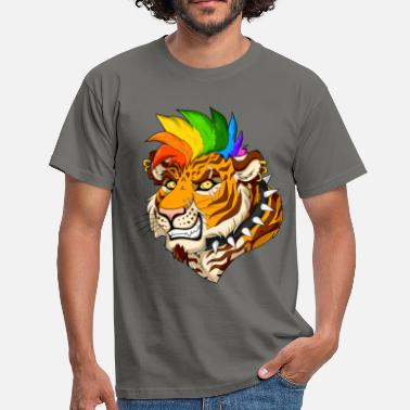 Hard Rock Punk Tiger - Men's T-Shirt