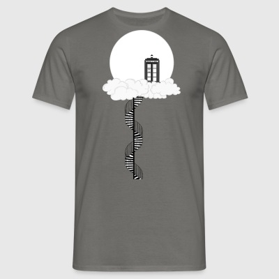 Tardis on clouds - Men's T-Shirt