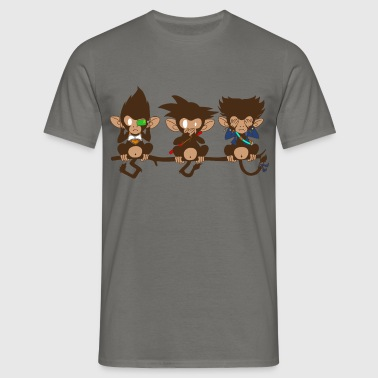 3 monkeys - T-shirt Homme