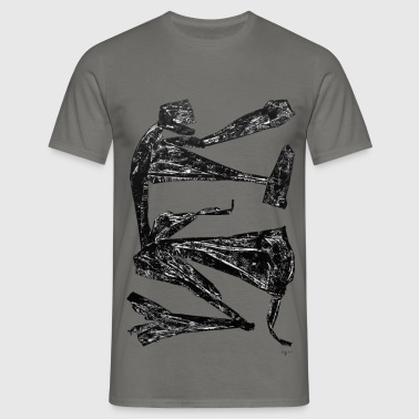 Monotype-print/figure-21 - Männer T-Shirt