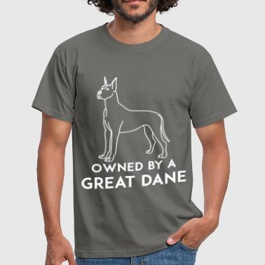 Great dane - Owned by a great dane - Men's T-Shirt