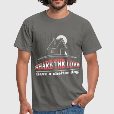Shelter dog - Share the love Save a shelter dog - Men's T-Shirt