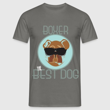 Boxer - Boxer - the best dog  - Men's T-Shirt