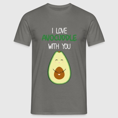 Love - I love avocuddle with you - Men's T-Shirt