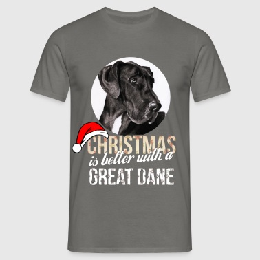 Great dane - Christmas is better with a Great Dane - Men's T-Shirt