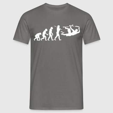 bouldering evolution - Men's T-Shirt