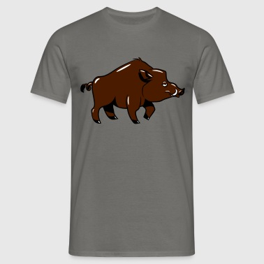 Wild boar tired funny - Men's T-Shirt