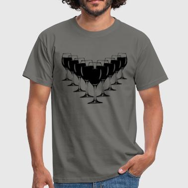Wine wine glasses - Men's T-Shirt