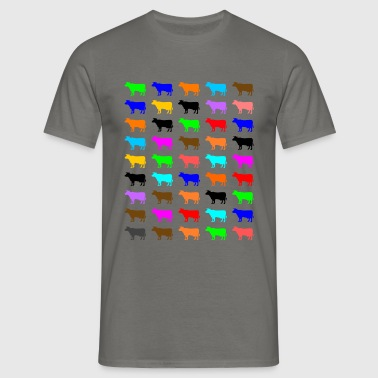 Multi Color Kuh - Männer T-Shirt