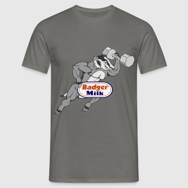 Badger Milk (with muscles) - Men's T-Shirt