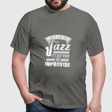 jazz - Herre-T-shirt