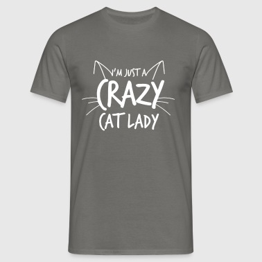 Crazy Cat Lady - Herre-T-shirt