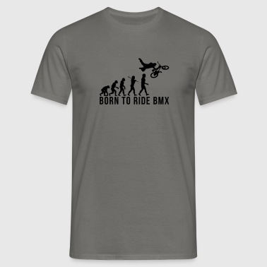 bmx evolution born to ride bmx - Men's T-Shirt