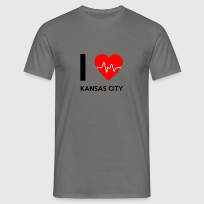 I Love Kansas City - jeg elsker Kansas City - T-skjorte for menn