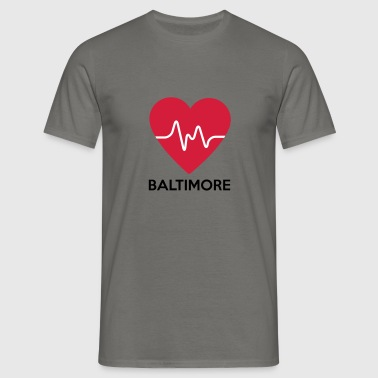 hjerte Baltimore - Herre-T-shirt
