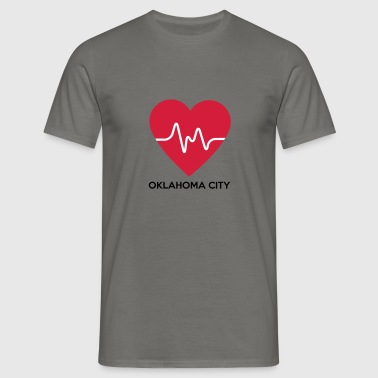 Heart Oklahoma City - Men's T-Shirt