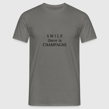 champagne sourire - T-shirt Homme