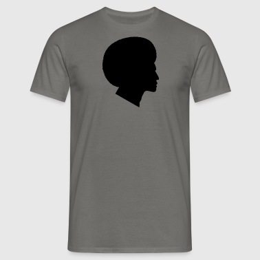 Afrikaner mit Afro Silhouette (Funk / Soul Style) - Männer T-Shirt