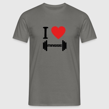 I LOVE Masse BLACK - Männer T-Shirt