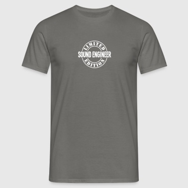 sound engineer limited edition stamp cop - Men's T-Shirt