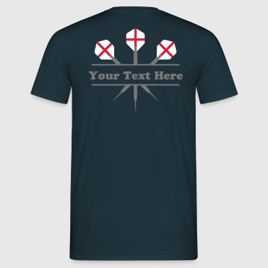 3_darts_two_colors_cross - Men's T-Shirt