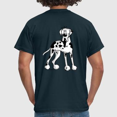 Deutsche Dogge Cartoon Deutsche Dogge - Hund - Doggen  - Männer T-Shirt