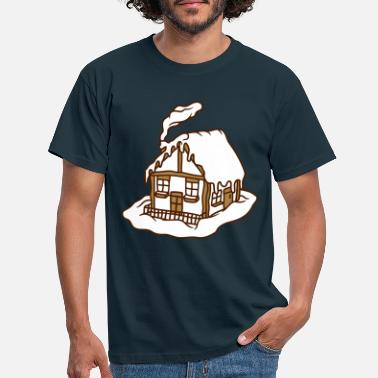 Stay winter house alps snow cold vacation vacations mountains - Men's T-Shirt