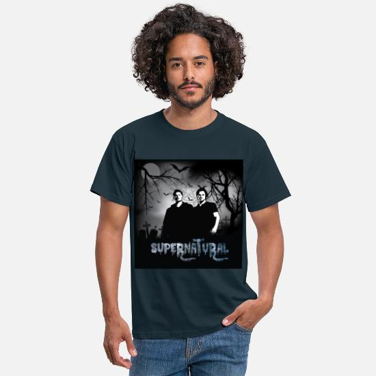 Supernatural T-Shirts - Supernatural 1 - Männer T-Shirt Navy