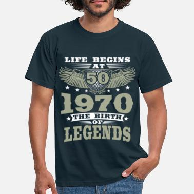 50th Birthday 1970 50th birthday legend 50 years - Men's T-Shirt