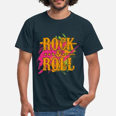 Rock And Roll ROCK AND ROLL Musik Fabenfroh - Männer T-Shirt